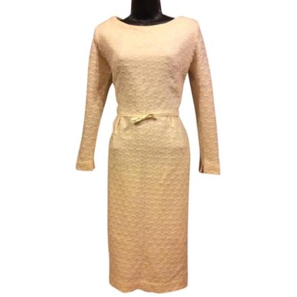 Vintage Dresses & Skirts - Vintage Ivory Wool Wiggle Dress